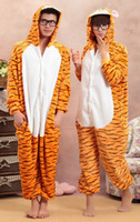 Wholesale Free ship Warm Dark Tigger Sleepwear w Zipper for Women Unisex Male costume clothes pajamas sleepcoat Men Lover Gift Flannel Fall Winter