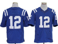 Wholesale Andrew Luck Colts Elite Jersey Royal Blue Quarterback American Football Jerseys Super Bowl Mens Jerseys All Team Players Sportswear