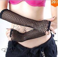 Wholesale Sexy Punk Fishnet Fingerless Gloves Gothic Long Socking Leggings Black Stocking