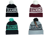 Wholesale Diamond Supply Co World Beanie With pom pom Beanies Hip Hop Snapback Hats Custom Knitted Cap Snapbacks Popular hat cap Mix Order Free Ship