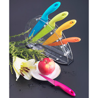 Metal set Multicolor Flyingcolors(TLKS-E103) 5-Piece Rainbow Knife Set with Acrylic Block