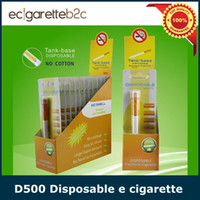 Best DHL Free shipping 500 puffs Tank-base D500 disposable e cigarette 280mAh battery