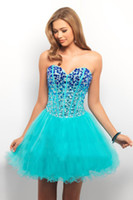 Reference Images Tulle Sweetheart Newest Sexy Bling Beads Sequins Crystals Short Tulle Dress Corset Sweetheart Lace up Ball Gowns Homecoming Prom Dresses