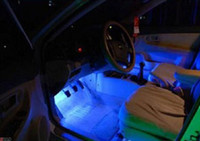 Wholesale Sets x Blue LED Car Charge Glow Interior Decorative Lamp Neon Atmosphere Lights