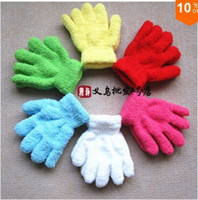 Wholesale pairs pairs Candy color multicolour solid color five fingers kids gloves infants white gloves dance mittens winter child