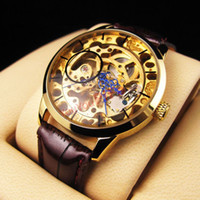 Wholesale 2014 New Arrivals Fashion gold Hollow Mechanical Watches Men s sports Watches
