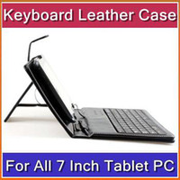 other 7 inch 8650 - 7 Inch USB keyboard leather case VIA A10 A13 Q88 N77 VC882 epad tablet pc MID DHL PTA F