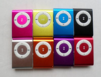 Wholesale 10pcs cheapest MINI Flash Gift clip MP3 Player with Clip control color support GB Micro SD TF card slim mp3 players