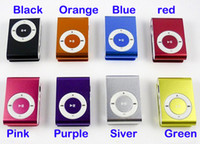 Wholesale 20pcs clip mp3 music player with card slot mini mp3 player colors amp