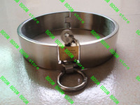 lock collar - BDSM FATORY Stainless Steel Heavy Duty Collar Thick Iron Locking Collar