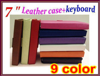 Wholesale 9 colors USB Keyboard Leather case for inch Android Allwinner Ainol Novo Tablet PC Epad Stand JP07