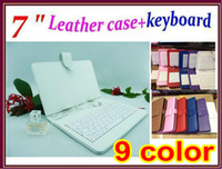 Keyboard Case ape pc - 9 colors Christmas gift quot Leather Case With Keyboard Stand Case For inch Q88 Q8 epad aped Android Tablet PC MID JP07