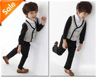 Wholesale HOT Boy in the autumn of the edition two piece suit children years old little boy clothes