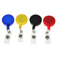 Wholesale Lowest Price Retractable ID Name Office Card Key Holder Tag Reels Badge Plastic W Belt Clip