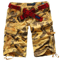 Wholesale Women Capri Shorts Women s Camo Cargo Capri Harem Hip Hop Pants Dance Costume Girls Knee Length Baggy Loose Shorts Pants