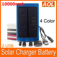 Wholesale Portable mAH Solar Battery Panel external Charger Dual Charging Ports for Laptop Cellphone Power Bank