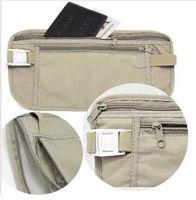 Wholesale Security Travel Ticket Waist Purse Pouch Money Coin Cards Passport Belt Bag New sale