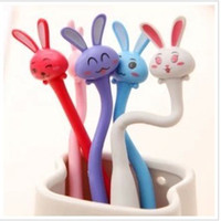 Wholesale Novelty Stationery Ballpoint Pen Day South Korea creative stationery cute bunny curved folding pen ballpoint pen student prize twist ballpoi