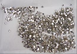 Wholesale SS12 mm Size Clear Color Swarovski Crystal Hot Fix pack Nail Art Decoration Rhinestone Daimond Beauty Fashion