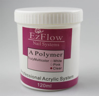 Wholesale 120g Ezflow Acrylic Powder Clear Color High Quality For Crystal Salon Nails Desgin amp Fashion Beauty Product