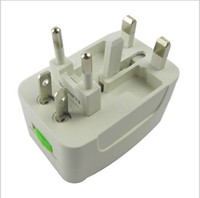Wholesale EU AU US AC power plug world travel universal adaptor surge protector for usb wall charger