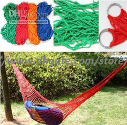 2017 Rushed Promotion Hammock Tent Hamak Wholesale - Door Travel Camping Hammock Garden Portable Nylon Hang Mesh Net Sleeping Bed