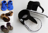 Wholesale 35 off Cute sandals crochet shoes CM handmade barefoot sandals KID SHOES baby wear cheap shoes online chaina pairs