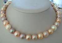 Wholesale Best Buy Pearl Jewelry mm natural Australian south sea white pink purple pearl necklace KG