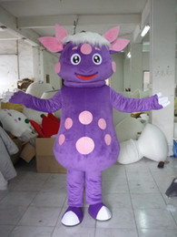 Wholesale 2013 Brand New Adult Size Purple Sheep Mascot Costume Fancy Dress Party Outfit