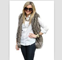 Wholesale Hot selling Women Faux Fur Vest Winter Long Vest Luxury Fur