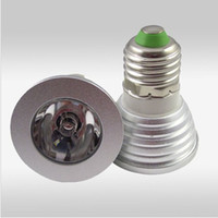 rgb led price - Cheap price W V E27 GU10 MR16 RGB LED color change Bulb Light Lamp with Remote control dhlship best2011