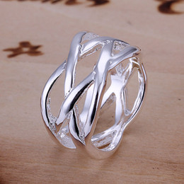 Wholesale Fashion Sterling Silver rings jewelry Network unisex rings size