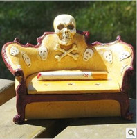 Wholesale Fashion personality skull ashtray ashtray home small ornaments