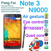 Wholesale N9000 Original Note Mega MTK6589 GHz Quad Core Inch HD Screen Android Smart eye contral