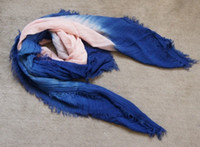 Wholesale Square shaded Linen viscose Hijabs shawl Scarf shawl Scarves Sarongs wraps Neckerchief headband cm