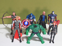 The Avengers Set of 7 Movie Action Figures Toy 15cm Black Wi...