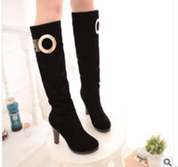 Wholesale 2013 new fall fashion sexy belt buckle Martin boots high boots women s boots