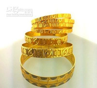 Wholesale 22kt SOLID YELLOW GOLD LADIES BANGLES WEIGHT GRAM HAND MADE IN DUBAI K