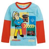 t-shirt printing - A4239 Blue Nova children autumn winter clothing m y boys t shirts cartoon Fireman Sam t shirt printing cotton long sleeve sweater tops