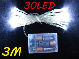 Christmas party battery string lights 30leds 3M led string lighting strings new battery operated red blue yellow white green 5 colors