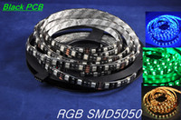 SMD 5050 best white boards - Best Price M Leds LM Glue Waterproof IP65 DC12V Black PCB Board RGB LED Strip Light SMD5050