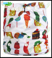 Wholesale Jctrade Cartoon Diapers Without Inserts Waterproof PUL One Size Fits All Print Cloth Diaper