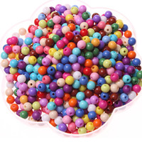 Wholesale mm Acryic Opaque Beads Mixed color Spacer Beads
