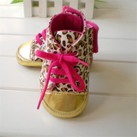 Girl Spring / Autumn Cotton Baby girls shoes Leopard Toddler shoes soft sole baby Walkers Wear Comfortable kids Casual Shoes FreeShipping