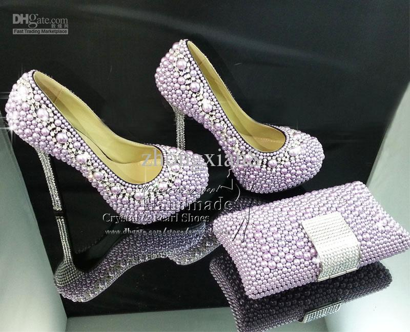 Cheap Purple High Heels - Qu Heel
