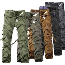 Wholesale smileseller2010 Cool Men s Cotton Casual Military Army Cargo Camo Combat Work Pants Trousers R48