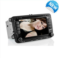Wholesale VW Caddy Jetta Golf Passt Auto Dual DVD Player DIN GPS Navigation Steering Wheel Control BT IPOD Digital TV ISDB T Car DVD player