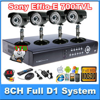Wholesale Home TVL SONY CCD Effio e mm lens Security Camera CH Full D1 P HDMI SATA Security DVR CCTV systems with GB HDD