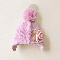 Girl beanies crochet patterns - Girls Cute Pink Princess Cap Kids Warm Cap Baby Crochet Hats Children s Autumn And Winter Caps Fashion Beanie Knit Hat Patterns Wool Cap