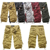 Wholesale New Men s Cotton Hobo Men Relaxed Fit Cargo Shorts Summer Cool Pants Shorts R53 smileseller